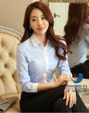 女商务长袖衬衫CWC-005,上海衬衫定制